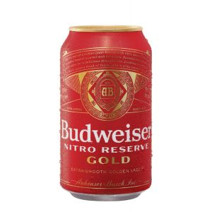 BUDWEISER NITRO RESERVE GOLD LAGER 12X12OZ CAN