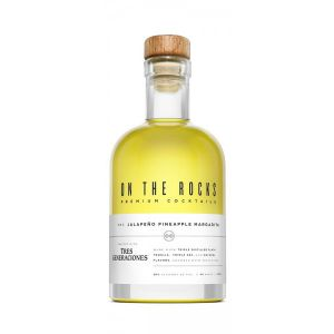 ON THE ROCKS COCKTAIL MARGARITA JALAPENO PINEAPPLE WITH TRES GENERACIONES 375ML